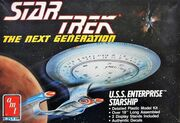 AMT Model kit 6619 USS Enterprise-D 1988
