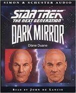 Dark Mirror audiobook cover, UK cassette edition