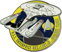 Eaglemoss Fansets USS Enterprise-D pin