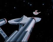 Enterprise findet Handelsschiff