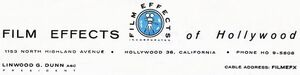Film Effects of Hollywood company logo