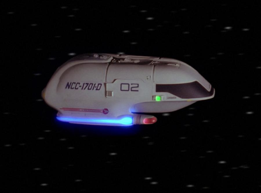 Shuttlecraft nacelles matching their Enterprise nacelles