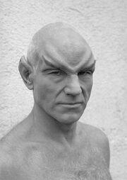 Stewart Romulan makeup
