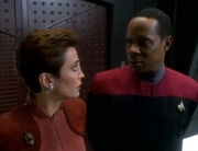 Kira and Sisko surprised