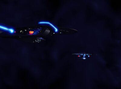 USS Enterprise-D begegnet USS Yamato