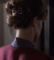 Valerie Archer's hair clip