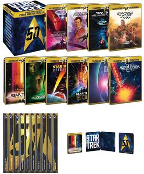 10 Movie Star Trek Collector's Set - Limited Edition Steelbook Collection contents