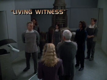 Living Witness title card