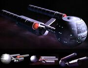 Daedalus class Star Trek Fact Files CGI model