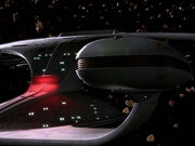 Galaxy class aft shot of the CGI model, remastered footage