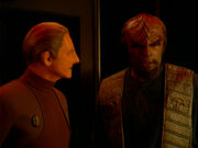Odo confronts Worf