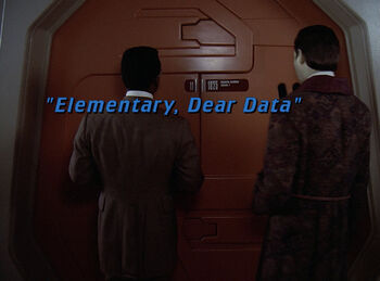 Elementary, Dear Data title card