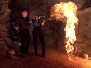 Crusher and Picard on Kesprytt III