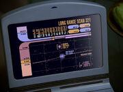 Langstreckenscan des mimetischen Duplikats der Voyager