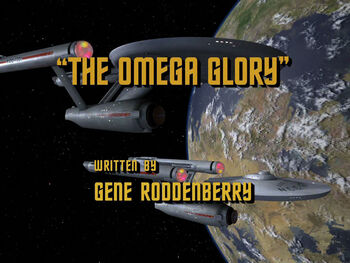The Omega Glory title card