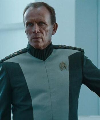 Admiral Marcus in a Starfleet meeting