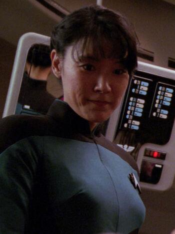 ...as a hologram of Alyssa Ogawa