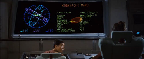 Kobayashi Maru Saavik Pantalla General The Wrath of Khan