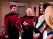 Riker and Picard with cigars