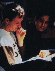 Robert Duncan McNeill directing Robert Beltran