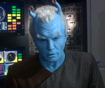"Holographic image of Shran in <a href=""/wiki/2161"" title=""2161"">2161</a>"