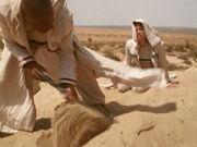 Sisko gräbt den Drehkörper wieder ein