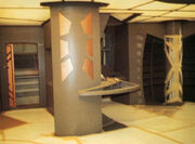 DS9 infirmary during construction