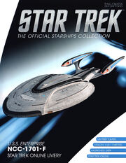 Star Trek Official Starships Collection USS Enterprise-F STO Livery cover