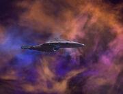 USS Voyager gathering deuterium