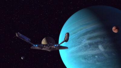 Enterprise NX-01 erreicht Gasriesen