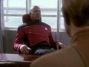 Sisko ist wegen des Vertrauensverlustes besorgt