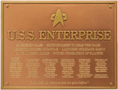 Eaglemoss USS Enterprise-E dedication plaque