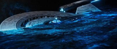 USS Discovery in the Mycelial network
