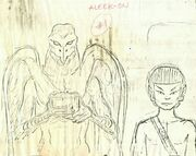 Aleek-Om and Young Spock concept sketch