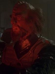 ...as the Klingon helmsman.