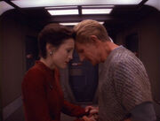 Kira bids older Odo goodbye