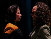 B'Elanna Torres, Human-Klingon faceoff