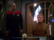 Benjamin Sisko and Odo, 2372