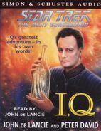 I, Q audiobook cover, UK cassette edition