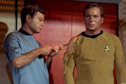 McCoy administering antidote to Kirk
