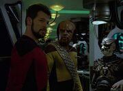 Riker und Worf bei den Borg