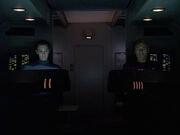 Wesley and Picard on shuttlecraft