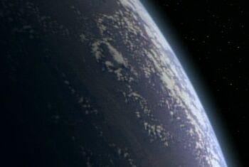 Makull's homeworld from orbit