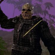 Skull faced opponent
