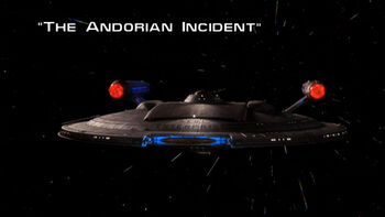 The Andorian Incident title card