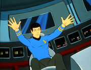 Spock reaching out