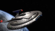 Enterprise NX-01 leaving Earth in ENT opening titles