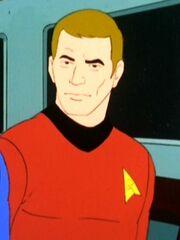 Ingenieur im Maschinenraum der USS Enterprise 2269