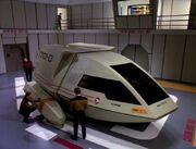 Shuttle Curie im Hangar