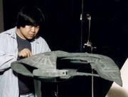 Greg Jein with D'deridex studio model
